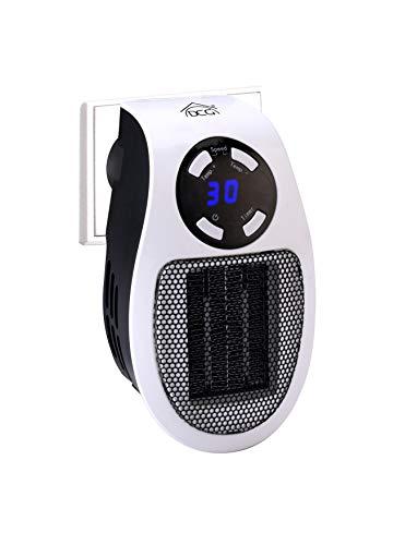 LA STUFETTA Dcg Mini Termoventilatore elettrico ceramico 500W a basso consumo, si attacca direttamente alla presa