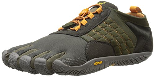 Vibram FiveFingers Herren Trekking Light Trek Ascent Funktionsschuh, dunkelgrün/grau/orange, 44 EU