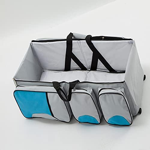 HHuin Capazo plegable para mamá y bebé, multifunción, gran capacidad, cuna de viaje portátil