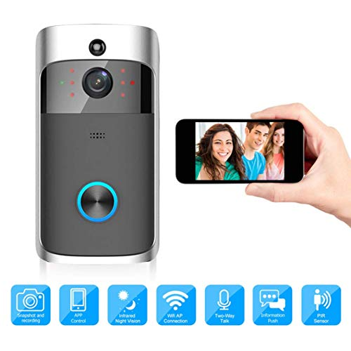 L&WB Smart Video Doorbell WiFi Beveiliging Draadloze deurbel video-opname laag energieverbruik remote home monitoring door Smartphone