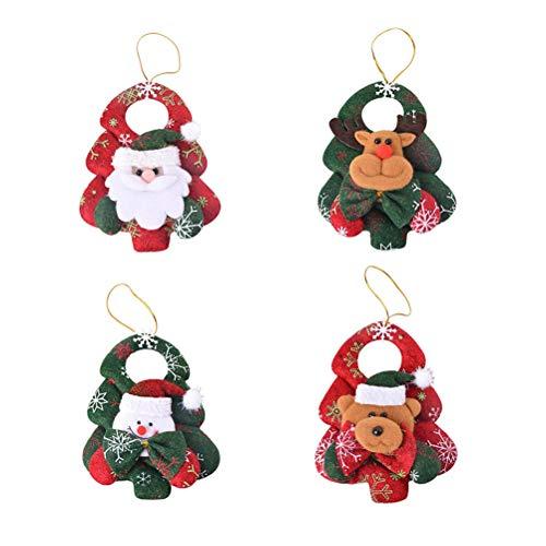 BESTOYARD Due-Home Adornos de árbol de Navidad decoración Navidad Puerta con Papá Noel Muñeco de Nieve Reno Oso...