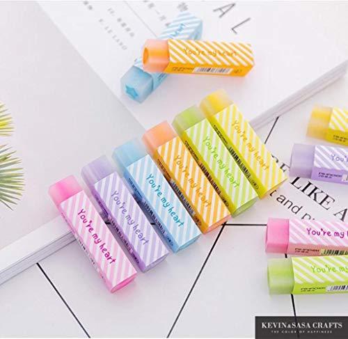 Boner 1 stks snoep kleur hart sterren gummen kawaii regenboog rubber gum voor potloden school correctie gereedschap voor kinderen geschenken briefpapier, 1