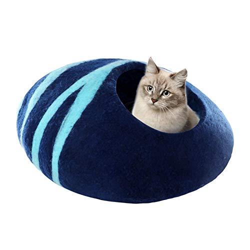 ishine Cama para gatos grandes y perros pequeños, reversible para mejorar el sueño, 50 x 50 x 18 cm