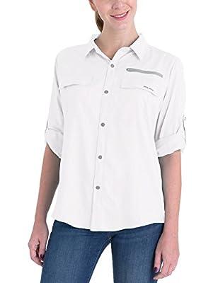 BALEAF Women's Lightweight Quick Dry UPF 50+ Sun ProtectionLong Sleeve Shirt Breathale Fishing Shirts White XL