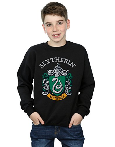 Harry Potter Jungen Slytherin Crest Sweatshirt Schwarz 12-13 Years