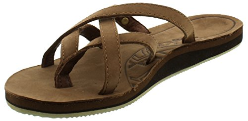 Teva Olowahu Leather W's Damen Sport- & Outdoor Sandalen, Braun (bison 561), EU 39