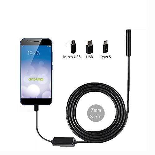 LJYNKJ Endoskop Kamera mit HD Inspektionskamera mit halbsteifem Kabel Schlangenkamera für Mac Windows Android (KEIN iOS) (3.5M)