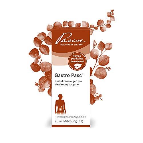 Pascoe® Gastro Pasc: bei Magen-Darm-Beschwerden - bei Entzündungen & Schmerzen in Magen & Darm - bei Erkrankungen der Verdauungsorgane - laktosefrei, zuckerfrei & glutenfrei - 20 ml