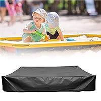 厚いサンドボックスカバー-砂場カバー-プールカバー-温水浴槽カバーアクセサリー-UV保護防水防塵イージークリーン,黒,200*200cm