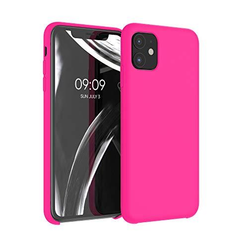kwmobile Hülle kompatibel mit Apple iPhone 11 - Hülle Handyhülle gummiert - Handy Hülle in Neon Pink