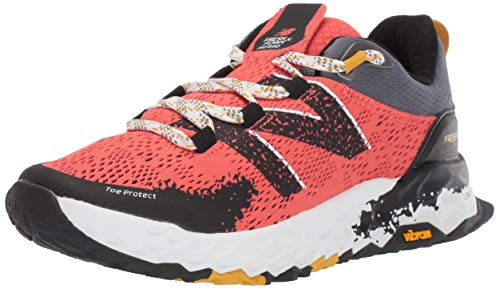New Balance Hierro V5 Fresh Foam, Zapatillas de Trail Running Mujer, Rojo Y Negro, 44.5 EU