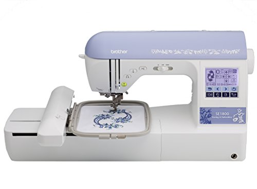 Brother SE1800 Sewing And Embroidery Machine With 136 Built-In Embroidery Designs, 6 Fonts, 184 Sewing Stitches, 5x7 Embroidery Field, Built-In Memory, 11 Sewing Feet, & Including Machine Case