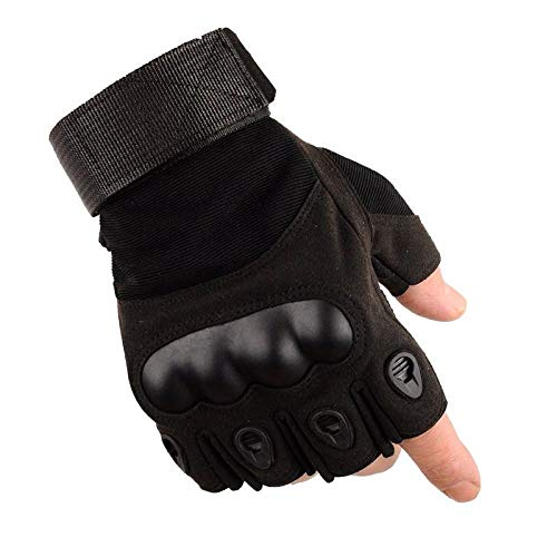 Gym Handschuhe Anti-Messer-Schnitt Männer Sport Anti-Rutsch-Outdoor-Bergsteigen Schutztraining Taktische Kampfhandschuhe Spezialeinheiten,Black-XL