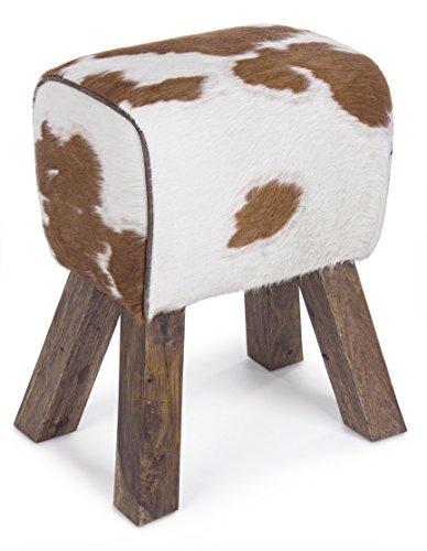 Bizzotto Buffalo kruk, hout, bruin, 43x28x50 cm