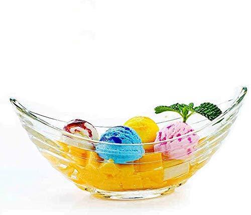 Placa de cristal transparente sin plomo de la fruta de la cesta de la exhibición, sostenedor decorativo del soporte de los tazones de frutas para el almacenamiento de la encimera y la decoración