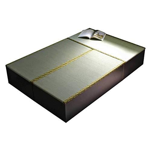 畳 ベッド セミダブル 収納 高床式ユニット畳 1畳タイプ3本 国産 小上がり 下収納 和風 モダン ダークブラウン TATA-BED3
