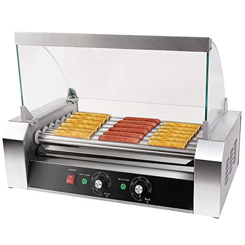 Happygrill Electric Sausage Grill, Stainless Steel Hot Dog Grill Cooker, 1200W Sausage Roller Grill...