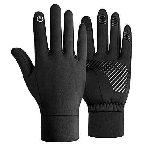 Lantch Unisex Handschuhe Touchscreen Handschuhe Radsport-handschuhe Thermo Outdoor Rutschfeste Fahrradhandschuhe Winddichte Wasserdichte Handschuhe, B-schwarz M