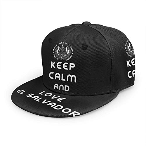 Gorras De Beisbol,Sombrero De Protección Solar,Gorra De Camionero,Keep Calm and Love El Salvador Classic Hip Hop Sombreros Gorra Ajustable Snapback