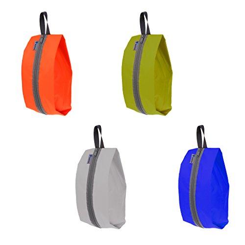 MagiDeal 4 Pièces Sac Imperméable à l'eau pour Chaussures Rangement Portable Sac Fourre-Tout Fermeture à Glissière