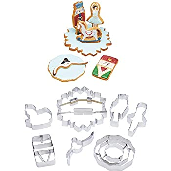 KitchenCraft The Nutcracker Collection Christmas Cookie Cutters in Gift Box Stainless Steel