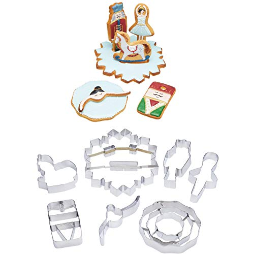 KitchenCraft The Nutcracker Collection Christmas Cookie Cutters in Gift Box, Stainless Steel, 7 Pieces KCXMCOOKIE7PC