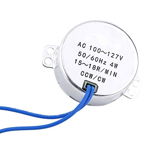 1pc AC 100-127V 4W synchrone motor 50 / 60Hz CCW / CW reductiemotor, geschikt voor ventilatiemechanisme van elektrische ventilator, verwarming, allerlei displayplanken, handwerk (15-18 tpm)