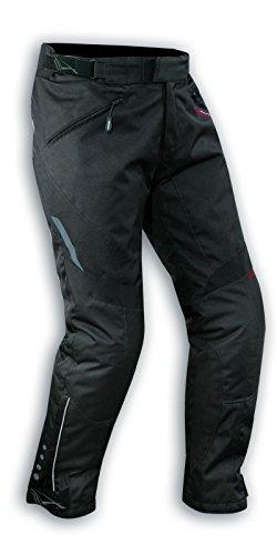 A-Pro Pantaloni da moto impermeabili, con fodera termica traspirante, di colore nero, taglia 48