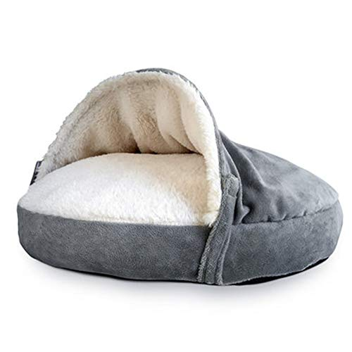 zyy Lit Chien Panier Chat Indoor Pet House Bed Kitten Bed Cat Sleeping Bag Pet Beds Cats Cave Vet Bed Sofa,Gray
