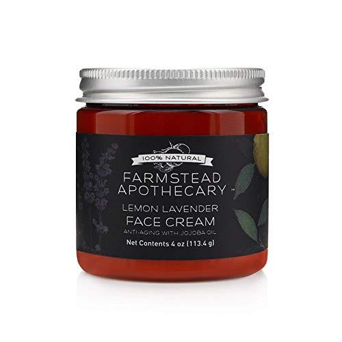 Farmstead Apothecary 100% Natural Anti-Aging Face Cream with Jojoba Oil, 4 oz (Lemon Lavender)