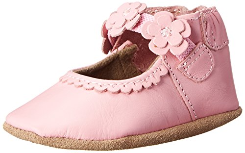 Robeez Claire Mary Jane Crib Shoe , Claire Pink, 12-18 Months M US Infant