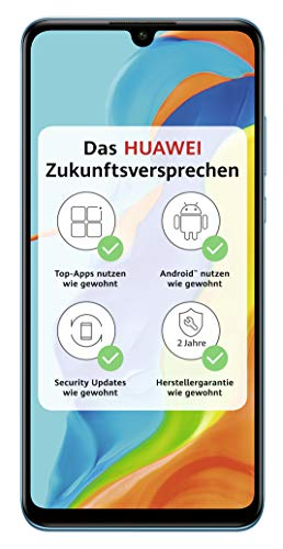 HUAWEI P30 lite NEW EDITION Smartphone B&le (15,6cm (6,15 Zoll) 256GB interner Speicher, 6GB RAM, Dual SIM, Android, EMUI 9.0.3) Peacock Blue + 16GB SD Karte [Exklusiv bei Amazon]