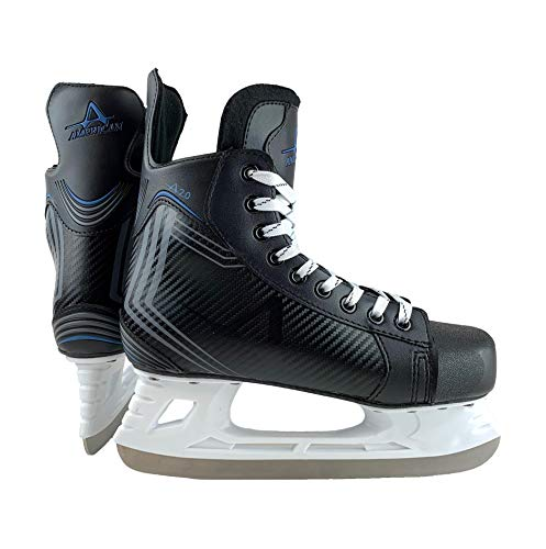 American Athletic Shoe Boy's Ice Force Hockey Skates, Black, 1 Y