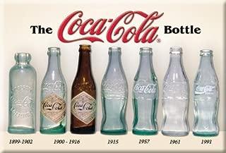 (2x3) Coca Cola Coke Bottle History Retro Vintage Locker Refrigerator Magnet by Poster Revolution