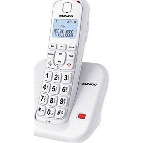 TELEFONO DAEWOO DTD-7200B NEGRO 80Db AUDIFONO