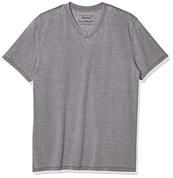 Lucky Brand Men s Venice Burnout V-Neck Tee Shirt Frost Grey Medium