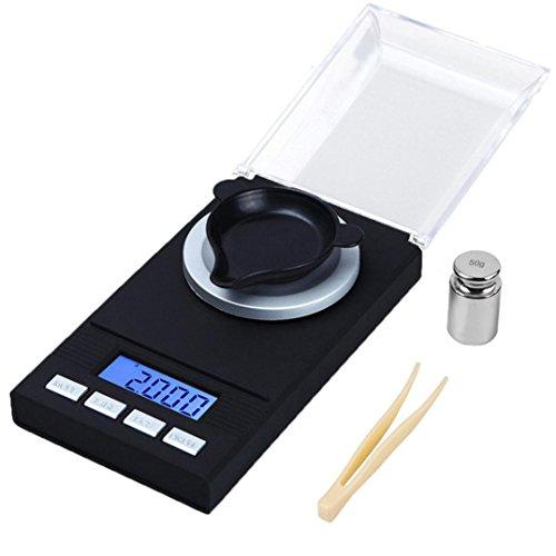 STRIR Báscula Digital de Cocina, Escala Digital de Alta Medición Precisa de Acero Inoxidable, Balanza de Cocina con Pantalla LCD para Alimentación, Joyería y etc-50g x 0.001g
