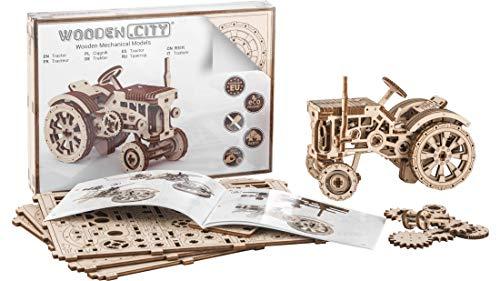 "3D-Holzfunktionsbausätze ""Tractor"" by WOODEN.CITY   3D-Puzzle Zusammenbau ohne Klebstoff"