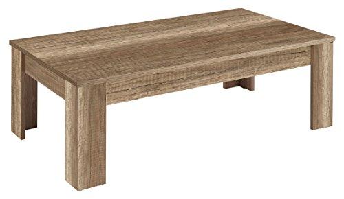 HOMEXPERTS Couchtisch NICK / Wohnzimmertisch / Beistelltisch in Monument Oak Holz-Optik in Dunkelbraun / TV-Tisch / Fernsehtisch / Coffetable / Tisch / 120 x 65 x 38 cm (BxTxH)