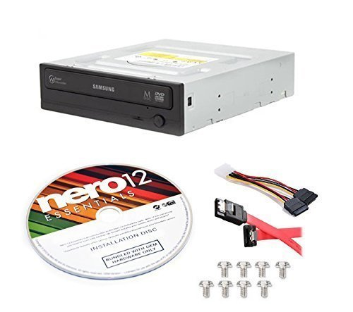 Samsung Electronics SH-224FB/BSBE-KIT 24x SATA Half Height DVD-Writer Internal Optical Drive + Nero 12 Essentials + Sata Cable Kit