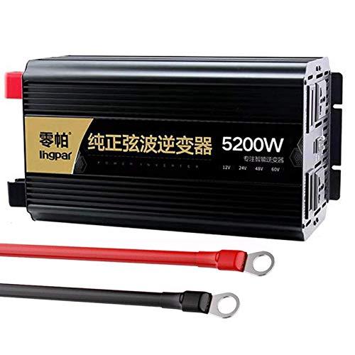 2500w (5200w Peak) Power Inverter DC 12V/24v to AC 230V 240V Inverter With AC outlets & USB, withVoltage Display for Car Camping Boat,12V