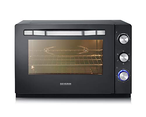 Severin TO 2066 XXL - Horno tostador, acero inoxidable, 2200 W, 60 L, color negro