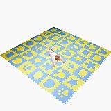Las alfombras de área Alfombrilla antideslizante a prueba de humedad, alfombrilla gruesa y fría de 2 cm for el área de juego de yoga for la habitación del bebé HP12-5 (Color : C-36pcs)