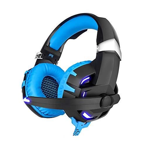 LXFTK Casque pour Ordinateur de Jeu, Casque avec Casque à Faible accentvidéo, Sports-Blue