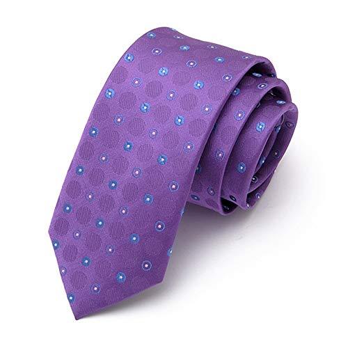 WUNDEPYTIE Echte Seide Der Männer 145Cm * 6Cm Krawattenkleidgeschäftsgeschenkkasten, Hellpurpurner Ursprung