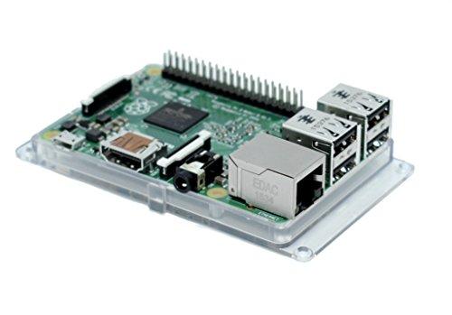 SB alta qualità Raspberry Pi 3custodia bumper–Clear/trasparente * * * * Accesso a tutte le porte montato in 30secondi. RoHS