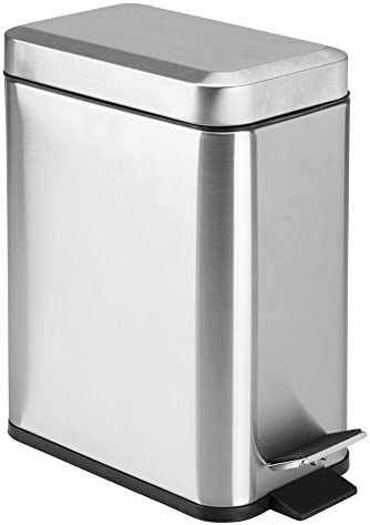Best mDesign stainless steel trash can costco for bathroom