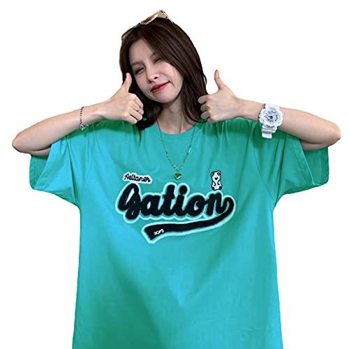 韓国ファッション半袖 韓国ファッション 韓国 レディース tシャツ レデ 夏 韓国 tシャツ tシャツ レディースィース 韓国 (レイクブルー)