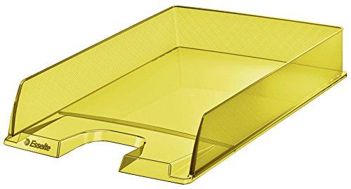"""Esselte Colour'Ice - Vaschetta portacorrispondenza, Formato A4, Impilabile verticalmente o a """"sbalzo"""", Polistirene (PS), Giallo, 626272"""