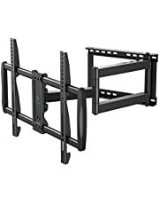 Full Motion TV Wall Mount for 37-75 inch LED LCD OLED Flat/Curved TVs with VESA 600x400mm, Articulating Corner TV Bracket Swivel & Tilt, 28 inch Arm Extension, Holds TVs up to 110lbs, PSXLF03